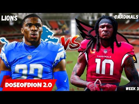 Lions Vs Cardinals Preview/Prediction Week 3! Revenge? Detroit Lions Talk