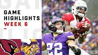 Cardinals vs. Vikings Week 6 Highlights   NFL 2018