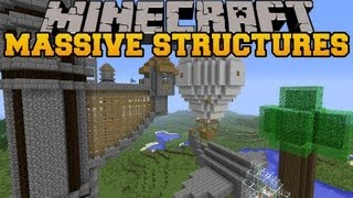 Minecraft: MASSIVE STRUCTURES (Generate Useful Buildings!) Instant Massive Structures Mod Showcase
