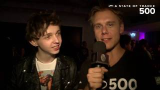 ASOT 500 Video Report - Armin van Buuren interviews Arty