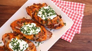 Smoky Stuffed Sweet Potato Recipe | Vegetarian BBQ by The Domestic Geek