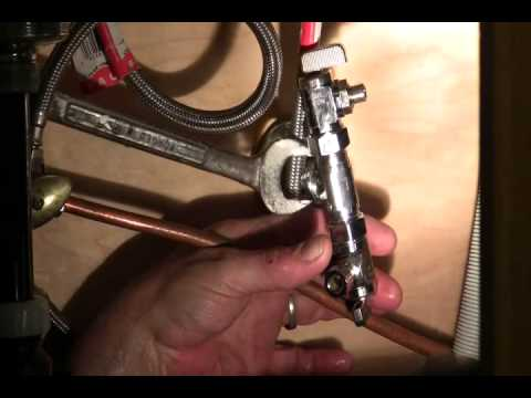How to replace an angle stop (shut-off valve)