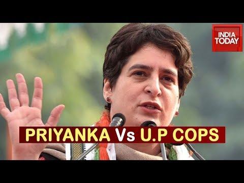 Priyanka Gandhi Alleges Manhandling By Police In Lucknow, U.P Govt Hits Back