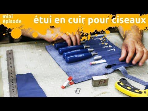 fabrication d'un étui en cuir pour mes ciseaux à bois - miniEpisode