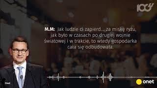 Taśmy Morawieckiego. Cztery cytaty, które musisz znać.