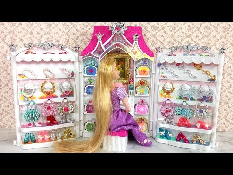 Princess Barbie Doll Jewelry Accessories Dress up باربي مجوهرات فساتين Barbie Vestidos Acessórios