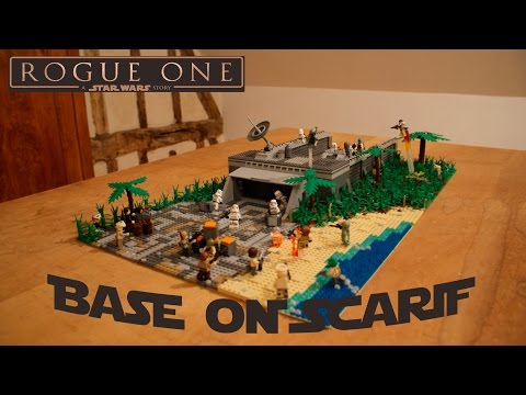 Lego star wars 75172 y wing starfighter from rogue one review the - Huge Lego Star Wars Scarif Moc Baze Malbus Shooting At