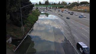 Flooded San Jose highway creates commute problems