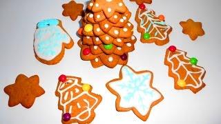 Имбирное рождественское печенье, имбирные пряники.  Новогодняя елка своими руками.