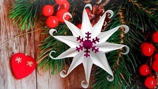 Снежинка из бумаги ❄ Новогодние поделки своими руками
