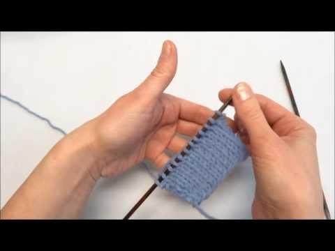 Rechte Maschen stricken – Knit Stitch – Stricken lernen – Learn how to knit