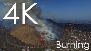 4K 空撮 / 大室山の山焼き