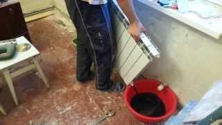Как заменить алюминиевый радиатор