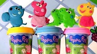 Peppa Pig Picnic Play Dough Activity Case Using PlayDoh Mummy Pig 😊 Daddy Pig Disneycollector