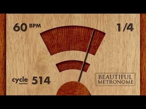 60 BPM 1/4 Wood Metronome HD (видео)