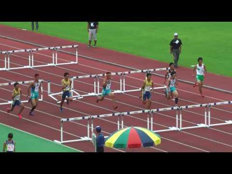 H29 関東中学校陸上競技大会 男子110mH 決勝
