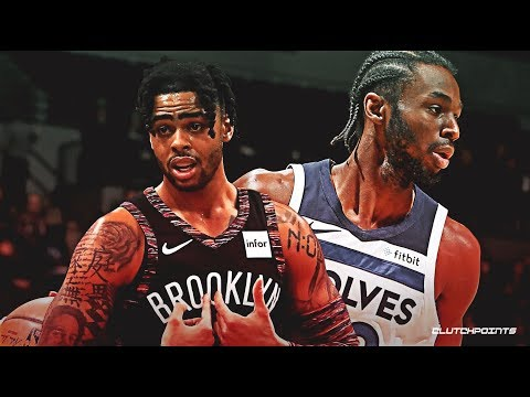 D'Angelo Russell vs Andrew Wiggins Insane Duel!!! 11/8/19