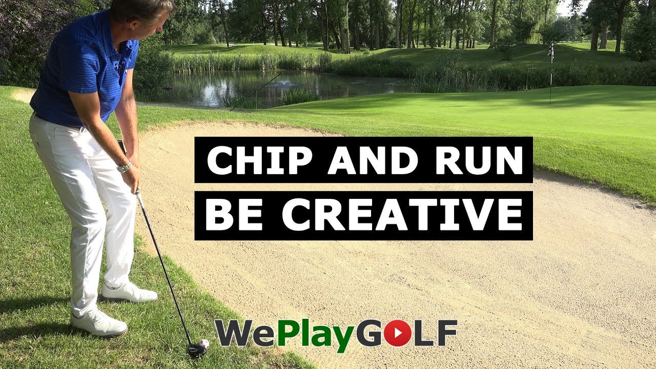Be creative in your next golf shot. Chip and run with your rescue