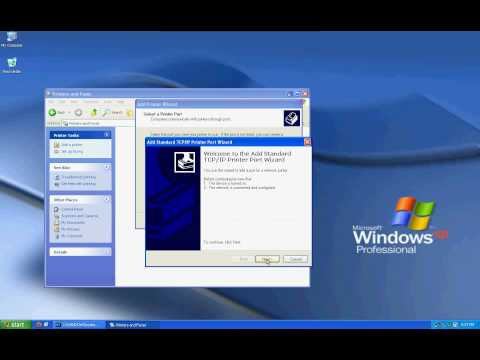Installing Network Printer in Windows Xp