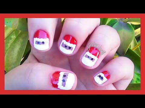 ❄ Nail art Santa Claus for Christmas - ❄ Diseño de uñas Santa Claus para Navidad