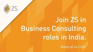 Make an impact in Business Consulting jobs at ZS in India