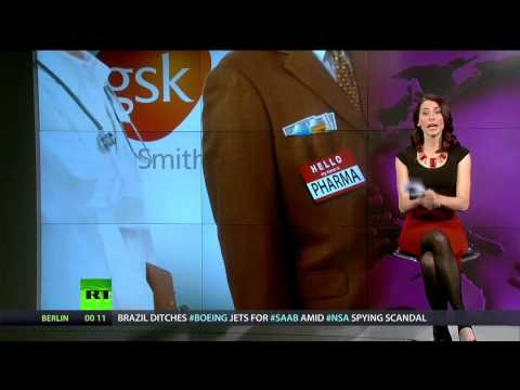 Big - Abby Martin comments on a recent announcement by pharmaceutical giant GlaxoSmithKline that the firm will no longer spend millions of dollars annually to pay ...