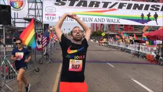Pride 5K Final StretchBrief Summary:  I am in the home stretch of the Pride 5K.  What could possible happen?  Who makes it in?  What does happen?  Watch and find out!  Thank you for watching!  Please like comment and subscribe!
