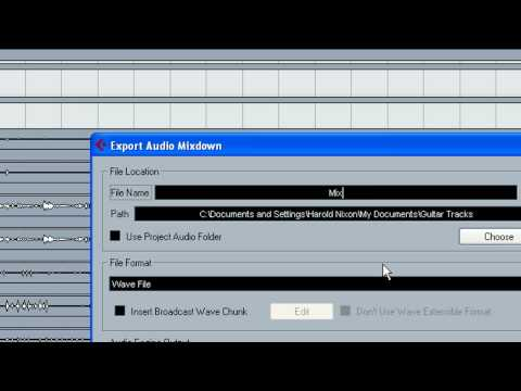 Cubase 4 - Stereo Mixdown Export