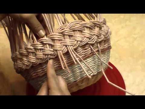 Плетение из газетных трубочек корзинки тищенко