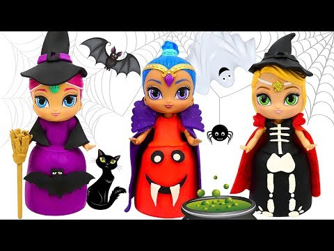 PLAY DOH HALLOWEEN COSTUMES  Dress Up for Shimmer and Shine Dolls
