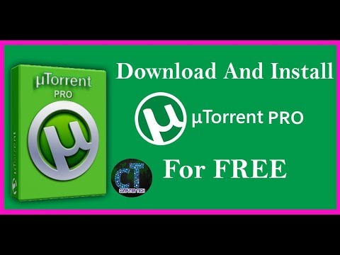 How to Download and Install  uTorrent PRO for free.