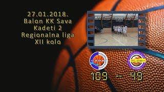 kk sava2 kk flash2 109 49 (kadeti 2, 27 01 2018 ) košarkaški klub sava