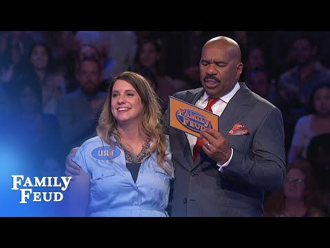 Leslie + Josh Lock Up $20,000!!! | Family Feud