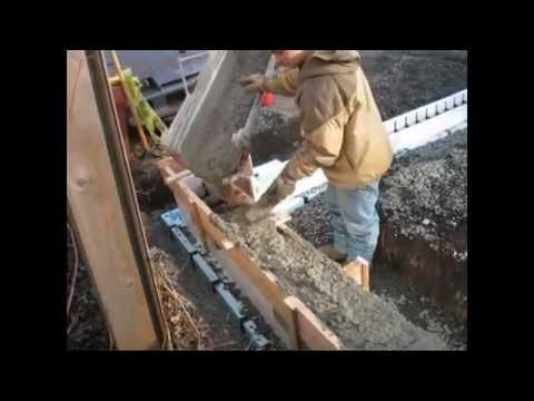 How to Build a Foundation from Start to Finish using Insulating Concrete Forms ICF