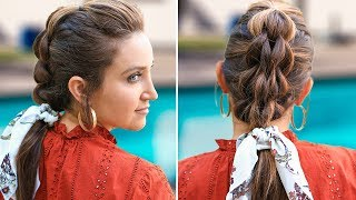 3-Strand Pull-Thru Braid | DIY Easy Hairstyles by Cute Girls Hairstyles