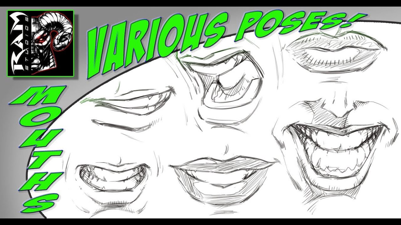 How To Draw Mouths Step By Step Tutorial Narrated