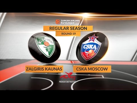 EuroLeague Highlights RS Round 19: Zalgiris Kaunas 79-74 CSKA Moscow