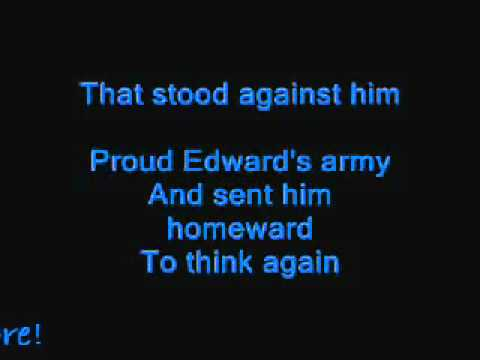 Flower of Scotland sing-along lyrics