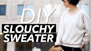 How to Make a Slouchy Sweater (Crew Neck) - YouTube