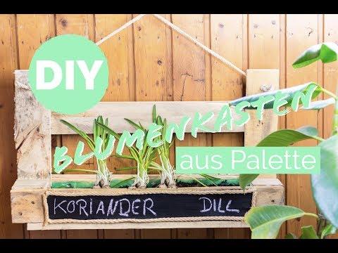 Palettenmöbel: Blumenkasten selber bauen * Palette * Blumenkasten aus Holz selber bauen   DIY
