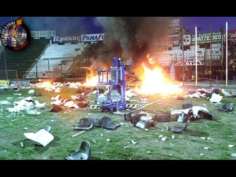 Video PAOK - Aris  2000  Riots //  Pyro-Greece download in MP3, 3GP, MP4, WEBM, AVI, FLV February 2017