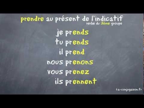 prendre au présent de l'indicatif - La-conjugaison.fr