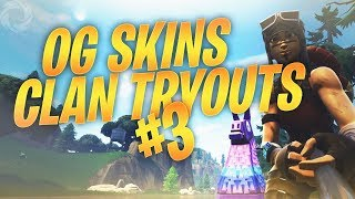 I Tried Out For 3 Clans Using OG Skins Only and this happened... - #3 Fortnite Battle Royale
