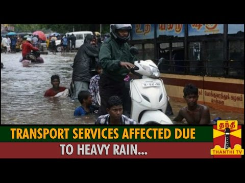 Traffic affected in chennai