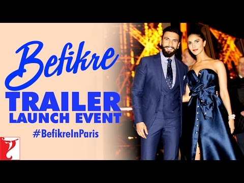 Befikre Trailer Launch Event at Eiffel Tower Paris Ranveer Singh | Vaani Kapoor