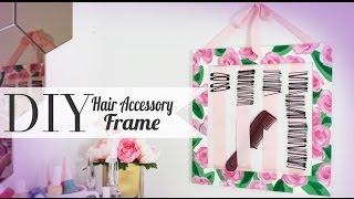 DIY Hair Pin Accessory Holder {CutePolish} - ANNEORSHINE - YouTube