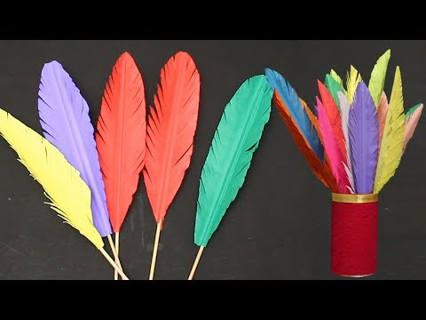 How to Make Paper Feathers   DIY Crafts