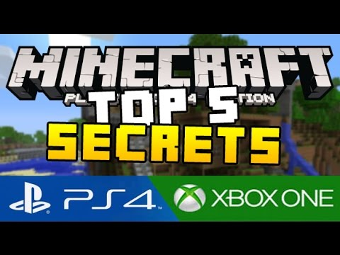 Top 5 Secret Tips & Tricks in Minecraft PS4 (Playstation 4) and Minecraft Xbox One Edition