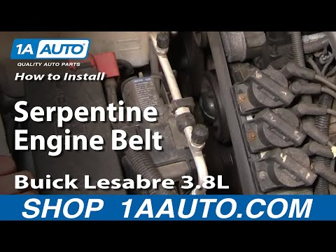 How To Install Repair Replace Serpentine Engine Belt Buick Lesabre 3.8L 00-05 1AAuto.com