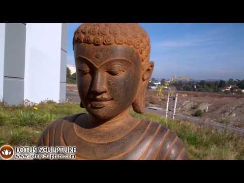 SOLD Stone Dharma Buddha Statue 37